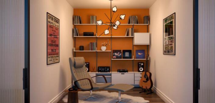 优化后室内生活的家庭室内装饰