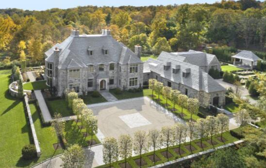 4000万美元的法国诺曼底风格康涅狄格州庄园带有游泳池和网球场