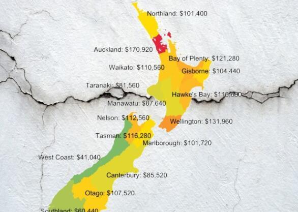 新西兰的房地产市场崩溃了 我们有地图来证明这一点